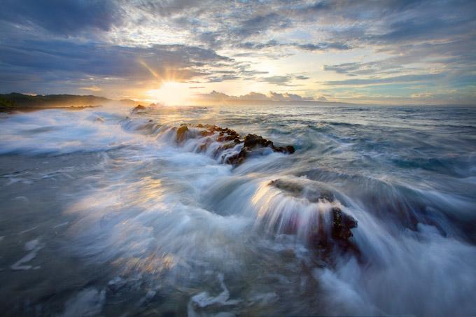Sawarna sunrise scene