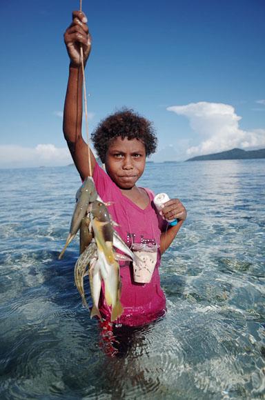 Nice fish kid!