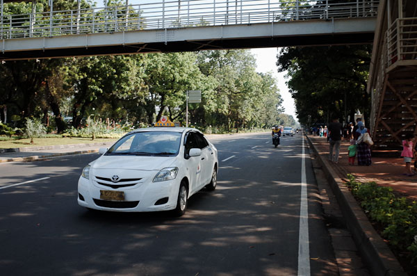 Jalan Medan merdeka barat minggu pagi