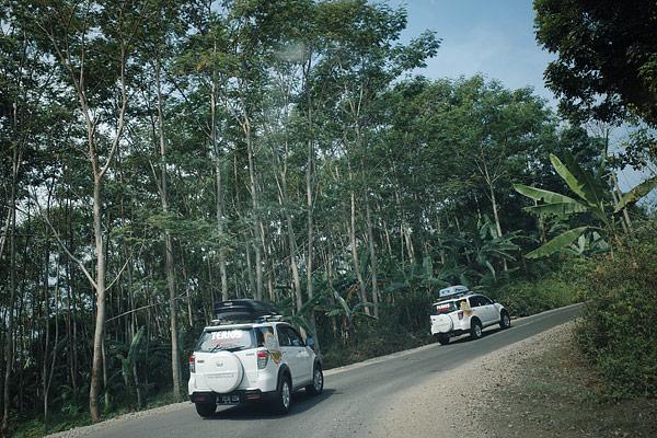 Jalan menuju Sawarna