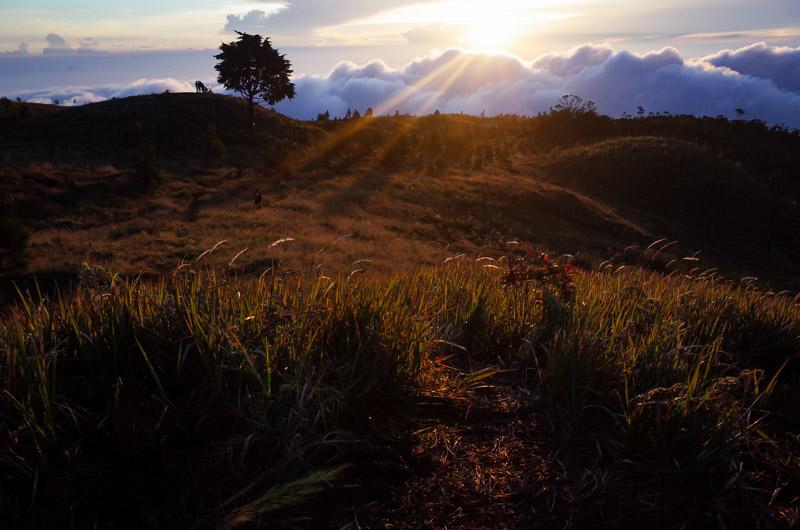 Matahari mulai muncul dari peraduan. Sedikit telat karena terhalang awan. Tapi tetap fantastis. Aneh ya, padahal matahari cuma satu itu saja.