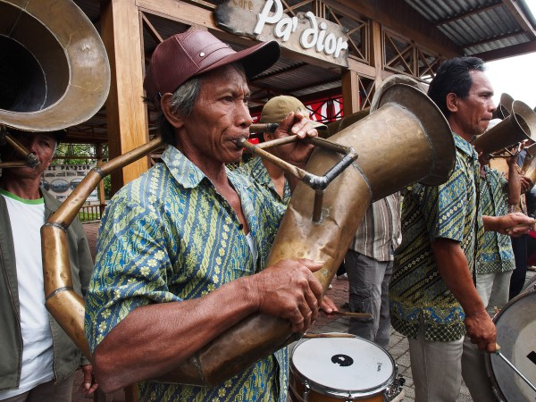Traditional minahasa horn