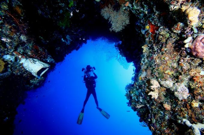 Ini sih diving ya...photo by indonesia.travel