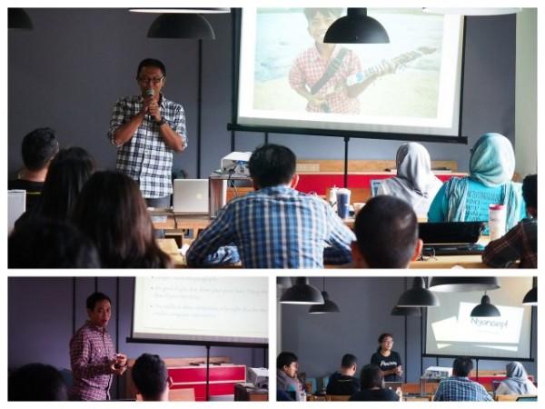 Hari pertama workshop #travelnblog