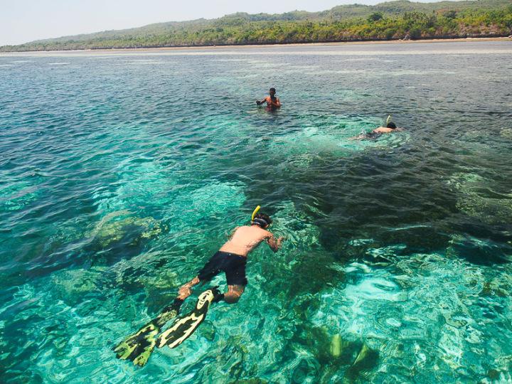 Snorkeling di depan pulau Tomia