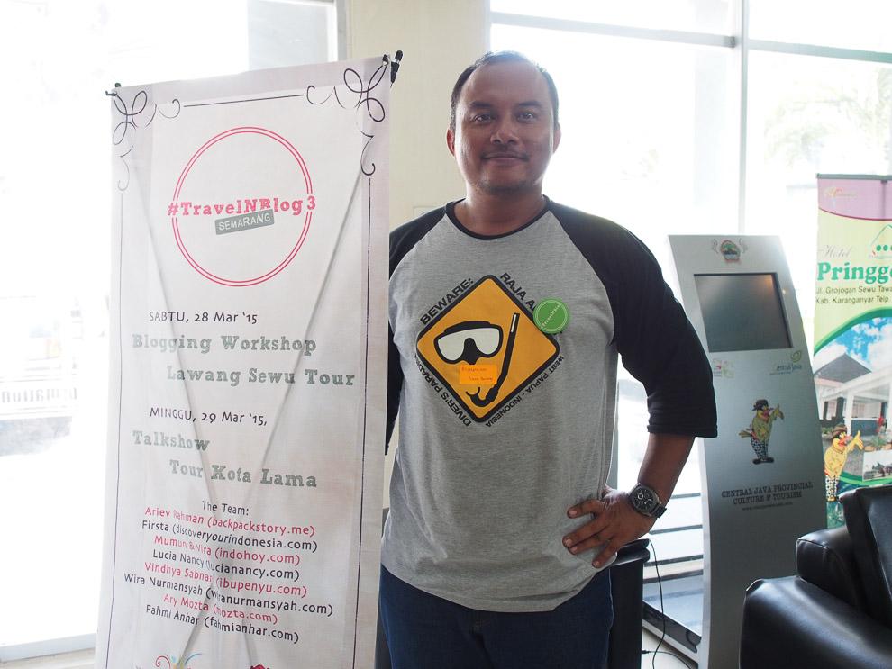 Si Mas Bolang Lostpacker.com yang ikut jadi peserta.