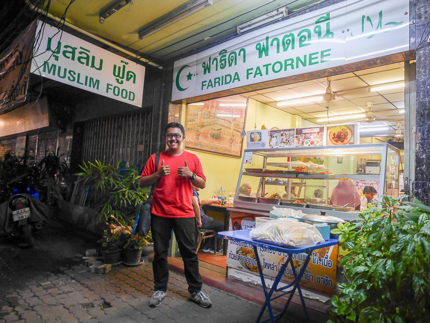 Rumah makan halal Farida di Rachatevi Bangkok