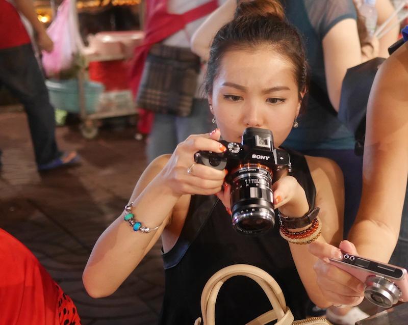 Sony A7 dengan lensa mount Leica
