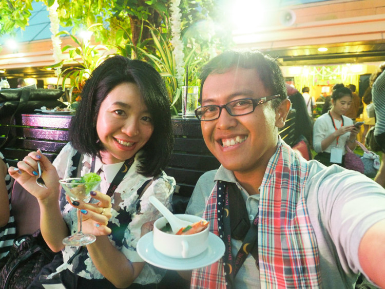 Opening party TBEX 2015, bersama Ayumi blogger dari jepang