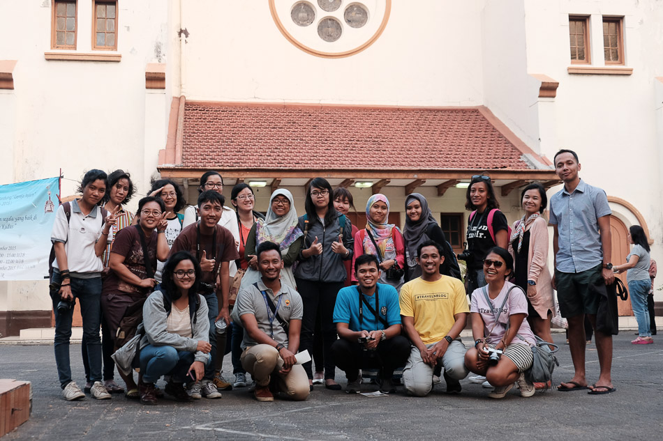 Foto kelompok kedua walking tour