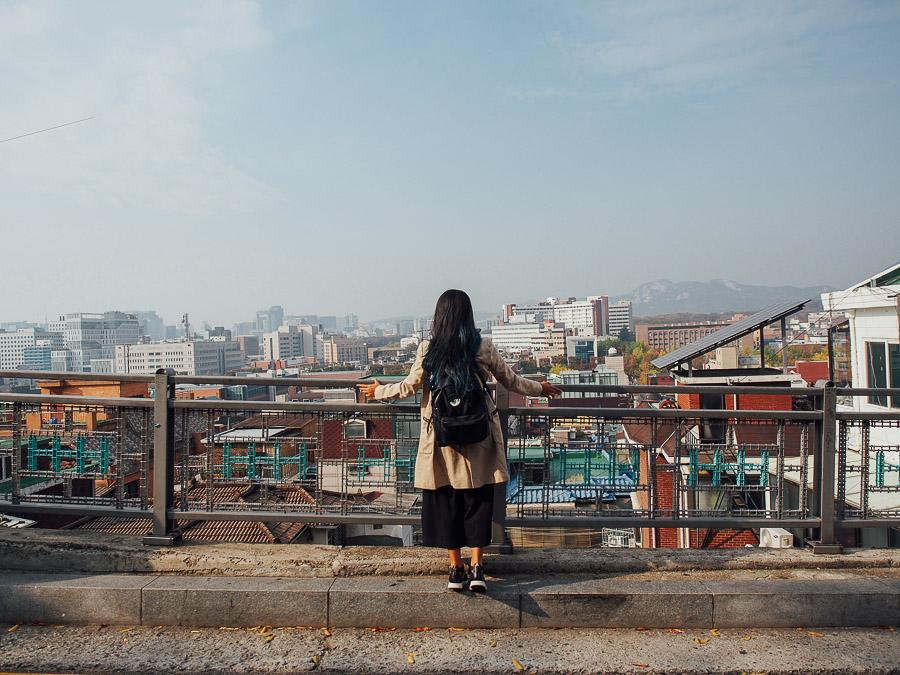 korea auntumn mural village musim gugur